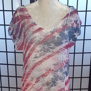 NWOT🇺🇸  Patriot Free Flowing summer Dress